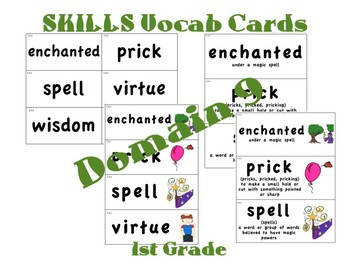 CKLA 1st Grade Vocabulary Cards Domain 9