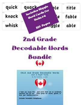CKLA 2nd Grade Decodable Words BUNDLE