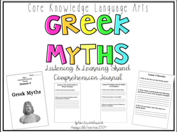 CKLA 2nd Grade Listening & Learning Comprehension Journal-Domain 4