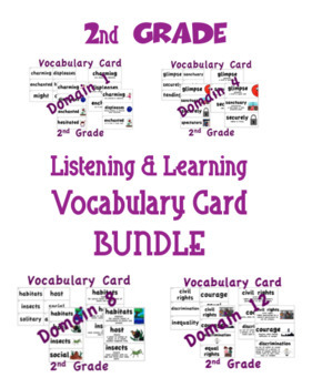 CKLA 2nd Grade Listening & Learning Vocabulary Cards BUNDLE
