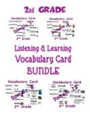 CKLA 2nd Grade Listening & Learning Vocabulary Cards BUNDLE