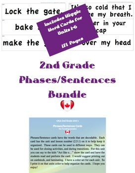 CKLA 2nd Grade Phrase/Sentence Cards BUNDLE
