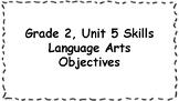 CKLA 2nd Grade Skills: Unit 5 Objectives