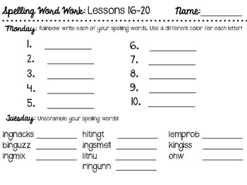 CKLA - 2nd Grade - Spelling Cards and Word Work