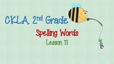 CKLA - 2nd Grade - Spelling Word Cards - Lesson 11
