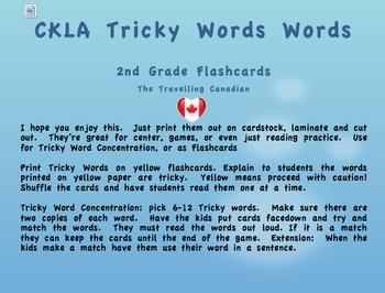CKLA 2nd Grade Tricky Words Flashcards