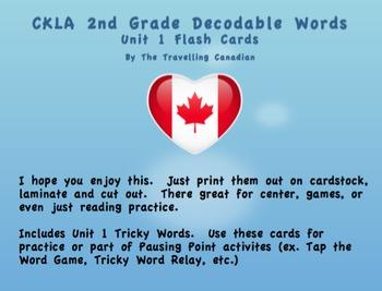 CKLA 2nd Grade Unit 1 Decodable Words Flashcards