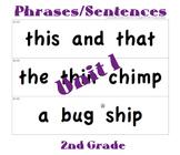 CKLA 2nd Grade Unit 1 Phrases/Sentence Cards