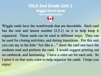 CKLA 2nd Grade Unit 1 Wiggle Words