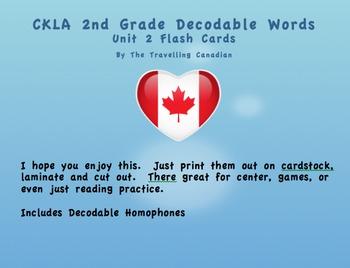 CKLA 2nd Grade Unit 2 Decodable Words Flashcards