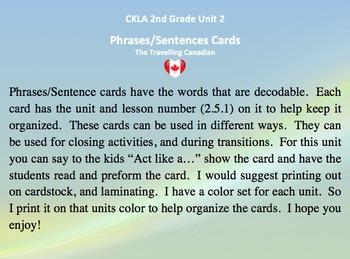 CKLA 2nd Grade Unit 2 Phrases/Sentence Cards