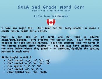 CKLA 2nd Grade Unit 3 Cut & Paste Word Sort