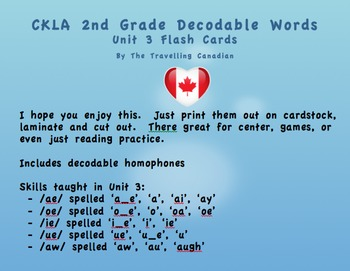 CKLA 2nd Grade Unit 3 Decodable Words Flashcards