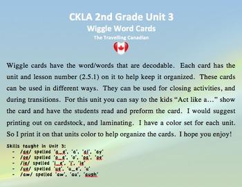 CKLA 2nd Grade Unit 3 Wiggle Words