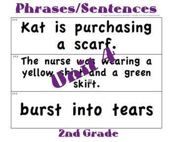 CKLA 2nd Grade Unit 4 Phrases/Sentence Cards