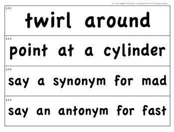 CKLA 2nd Grade Unit 4 Wiggle Words