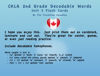 CKLA 2nd Grade Unit 5 Decodable Words Flashcards