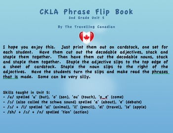 CKLA 2nd Grade Unit 5 Phrase Flip Book