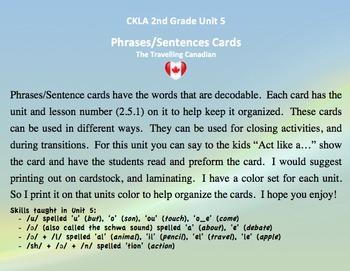 CKLA 2nd Grade Unit 5 Phrases/Sentence Cards