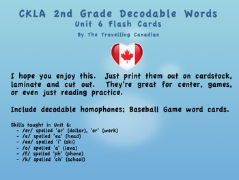 CKLA 2nd Grade Unit 6 Decodable Words Flashcards