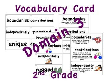 CKLA 2nd Grade Vocabulary Cards Domain 3
