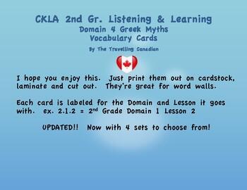 CKLA 2nd Grade Vocabulary Cards Domain 4