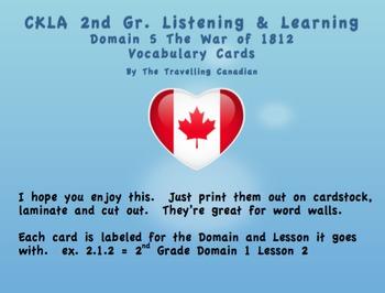 CKLA 2nd Grade Vocabulary Cards Domain 5