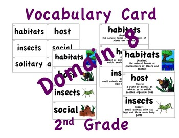 CKLA 2nd Grade Vocabulary Cards Domain 8