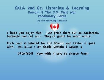 CKLA 2nd Grade Vocabulary Cards Domain 9