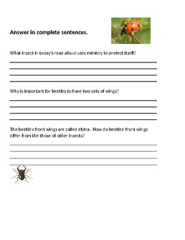 CKLA 2nd grade Unit 8 Lesson 7 Armored Tanks of the Insect World