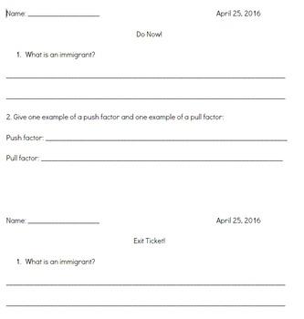 CKLA 2nd grade immigration (lessons 6-10)