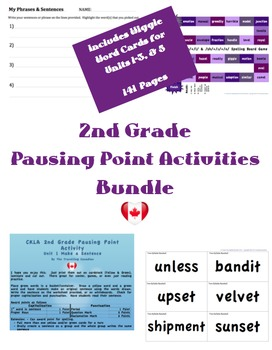 CKLA 2nd Grade Games/Pausing Point Activities BUNDLE