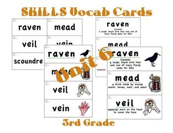 CKLA 3rd Grade SKILLS Vocabulary Cards Unit 6