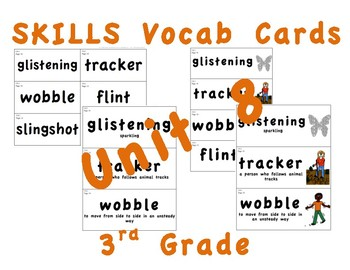 CKLA 3rd Grade SKILLS Vocabulary Cards Unit 8