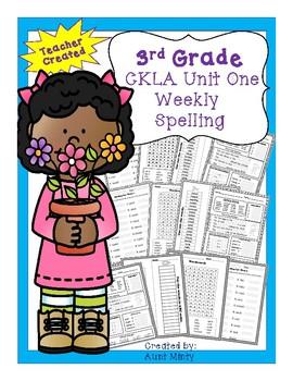 CKLA 3rd Grade, Unit 1 Skills Strand Spelling Unit