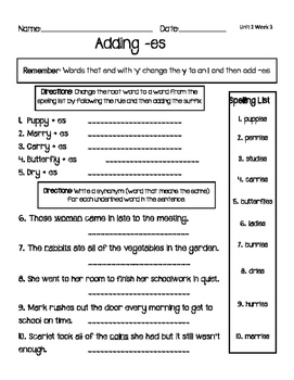 CKLA 3rd Grade Unit 2 Week 3 Spelling Homework