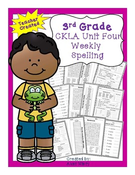 CKLA 3rd Grade Unit 4 Spelling Unit and Extension Activities