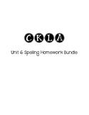 CKLA 3rd Grade Unit 6 Spelling Homework Bundle