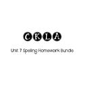 CKLA 3rd Grade Unit 7 Spelling Homework Bundle