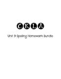 CKLA 3rd Grade Unit 9 Spelling Homework Bundle