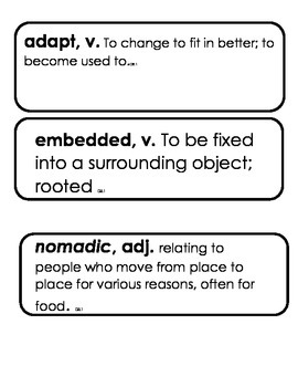 CKLA 3rd grade Domain 8 Vocabulary Native American Regions and Cultures