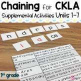 Supplemental Chaining Activities for CKLA | 1st grade Unit 1 - Unit 7