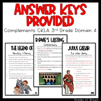 "CKLA Core Knowledge ""Ancient Roman Civilization"" Domain 4 Student Booklet"