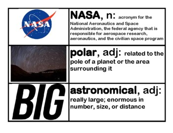 CKLA Core Knowledge Grade 3 Domain 7 Astronomy Vocabulary Cards