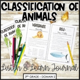 """CKLA Core Knowledge """"Classification of Animals"""" Domain 2 Student Booklet"""