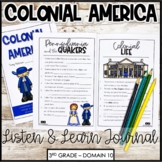 CKLA 3rd Grade Colonial America Listening Journal