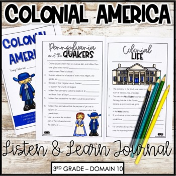 """CKLA Core Knowledge """"Colonial America"""" Domain 10 Student Booklet"""