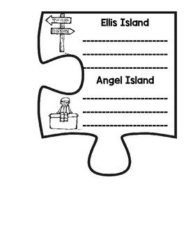 CKLA Core Knowledge Domain 11 Immigration Puzzle
