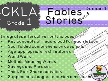 CKLA Core Knowledge First Grade Fables and Stories Companion Domain 1