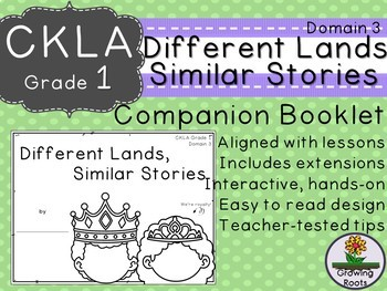 CKLA Core Knowledge Grade 1 Different Lands, Similar Stories Companion Domain 3